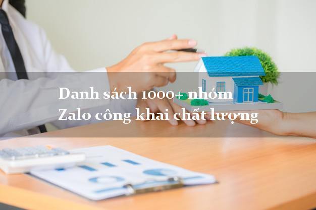 Danh sách 1000+ nhóm Zalo công khai chất lượng